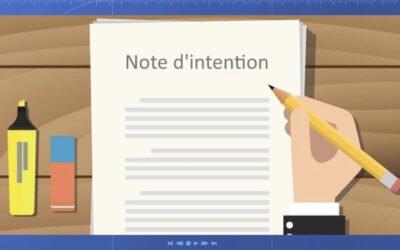La note d'intention